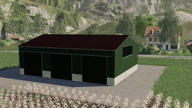 Мод Grune 3 Tor Fahrzeug halle v 1.0 для Farming Simulator 2019