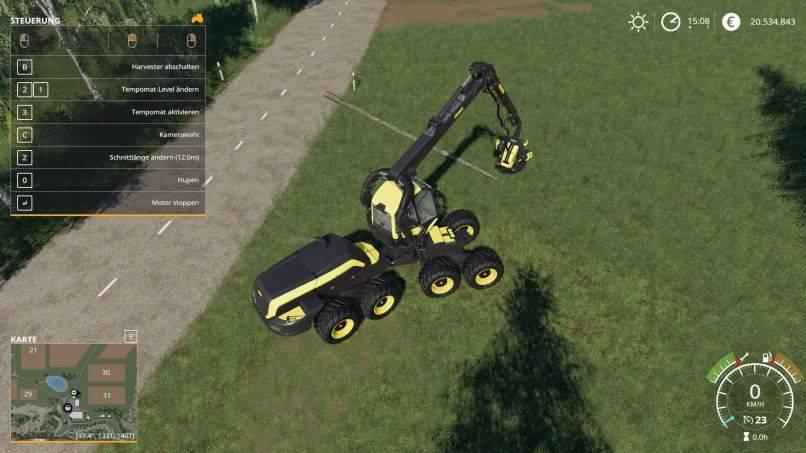Мод Ponsse Scorpion King 12m Cut v 1.0 для Farming Simulator 2019