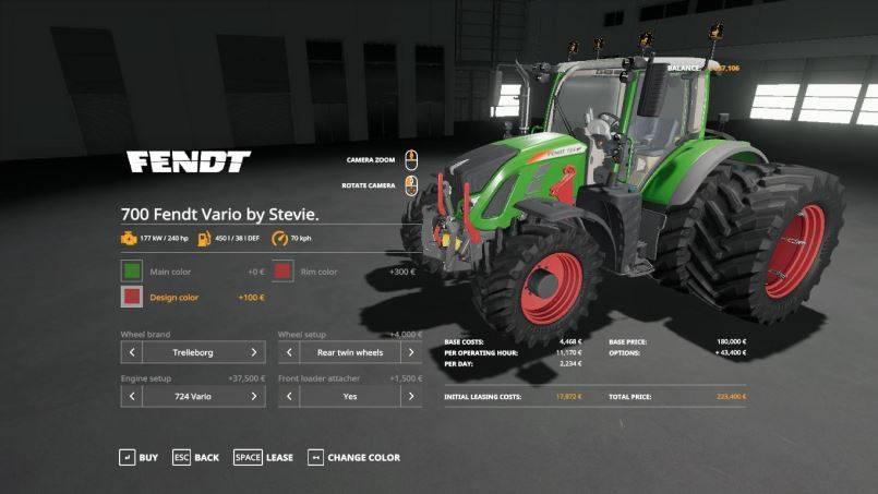 Мод Fendt Vario 700 small update by Stevie v 1.0 для Farming Simulator 2019