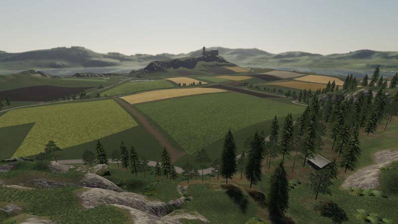 Мод Карта Volksbrunn Map v 1.1 для Farming Simulator 2019