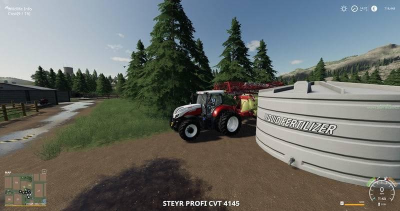 Мод Placeable Liquid Fertilizer Tank v 1.0.0 для Farming Simulator 2019