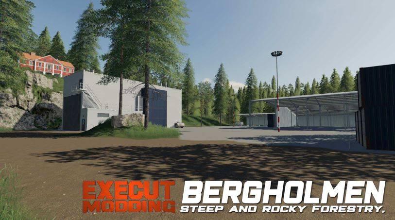Мод Карта Bergholmen Hardcore Forestry v 1.0 для Farming Simulator 2019