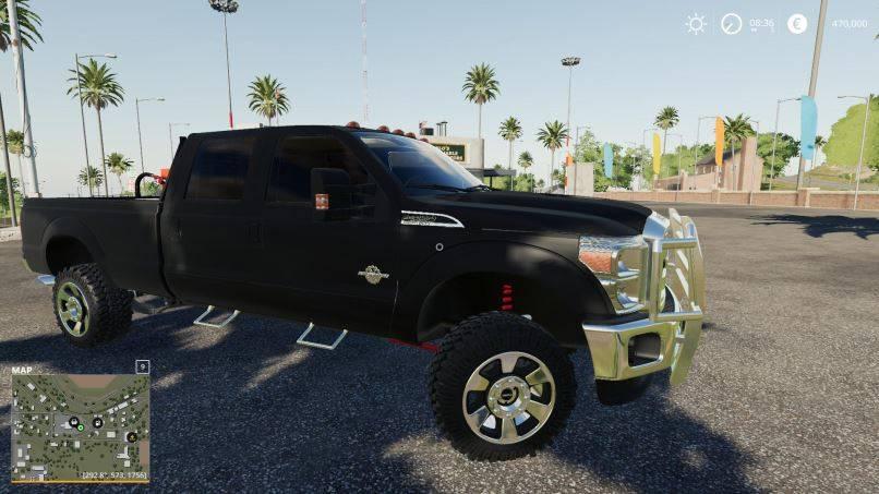 Мод Ford F350 Crew Cab beta для Farming Simulator 2019
