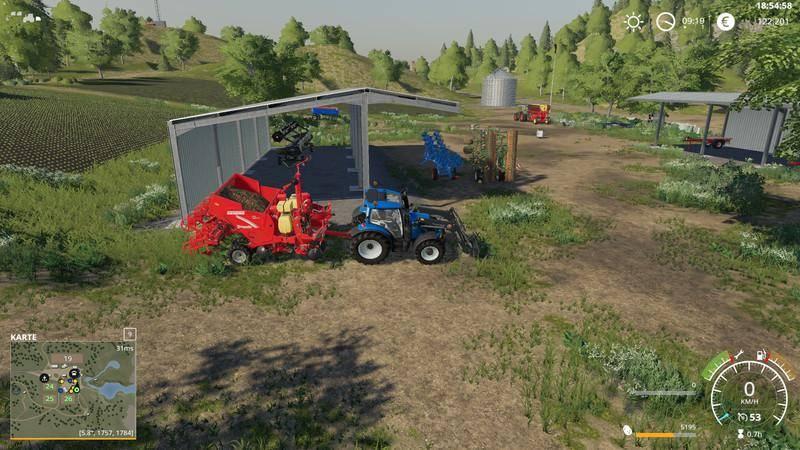 Мод Скрипт Vehicle Fruit Hud v 0.53 Beta для Farming Simulator 2019