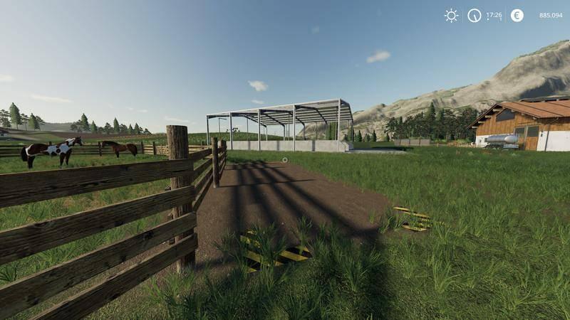 Мод Triple silo Placeable v 1.0 для Farming Simulator 2019
