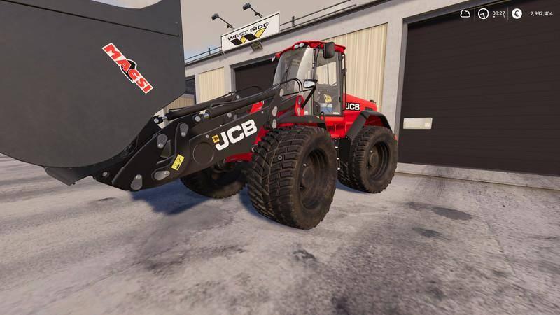 Мод JCB-435S v 1.0 для Farming Simulator 2019