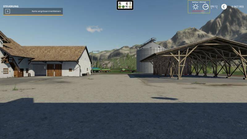 Мод DayTimeMoney Hud v 0.2 Beta для Farming Simulator 2019