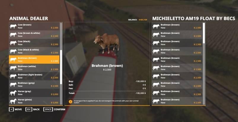 Мод Michieletto AM19 Float by Becs v 1.0 для Farming Simulator 2019