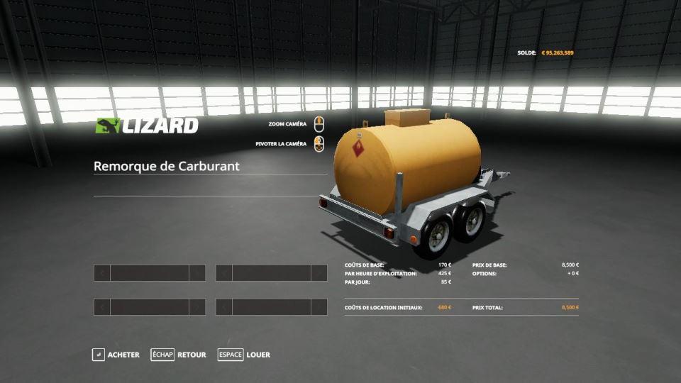 Мод Fuel Trailer v 1.0 для Farming Simulator 2019