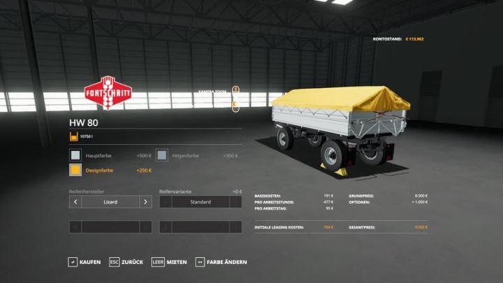 Мод HW80 Multicolor v 1.0.0.1 для Farming Simulator 2019