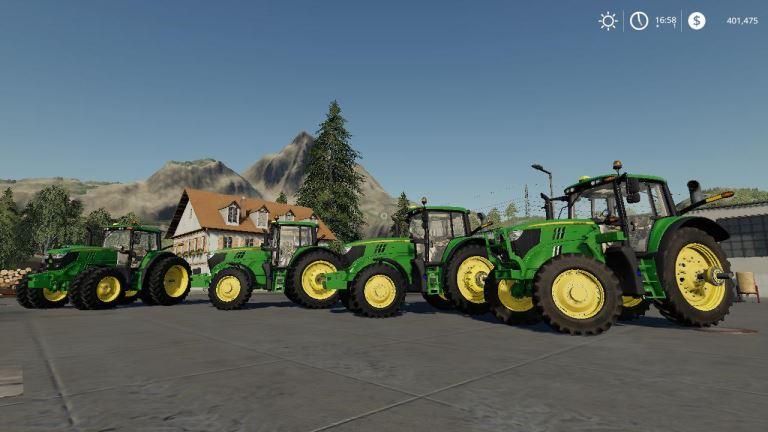 Мод John Deere 6M Series American v 1.0 для Farming Simulator 2019
