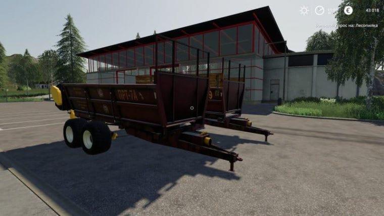 Мод МТТ-9 и ПРТ-7A v 1.0 для Farming Simulator 2019