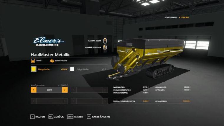 Мод Elmers Mfg HaulMaster - MetallicEdit v 1.0 для Farming Simulator 2019