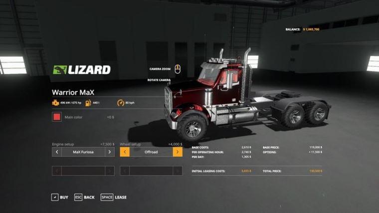 Мод Warrior MaX v 1.2.3.0 для Farming Simulator 2019