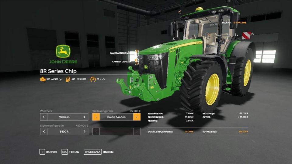 Мод John Deere 8R real sound v 1.0.2 для Farming Simulator 2019