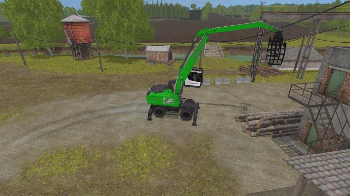 Мод Sennebogen 830E (Adstrip/Logo Correction) v1.1 для Farming Simulator 2017