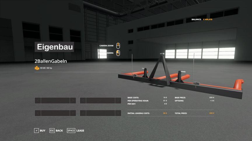 Мод Eigenbau Ballengabeln Pack v 1.0 для Farming Simulator 2019