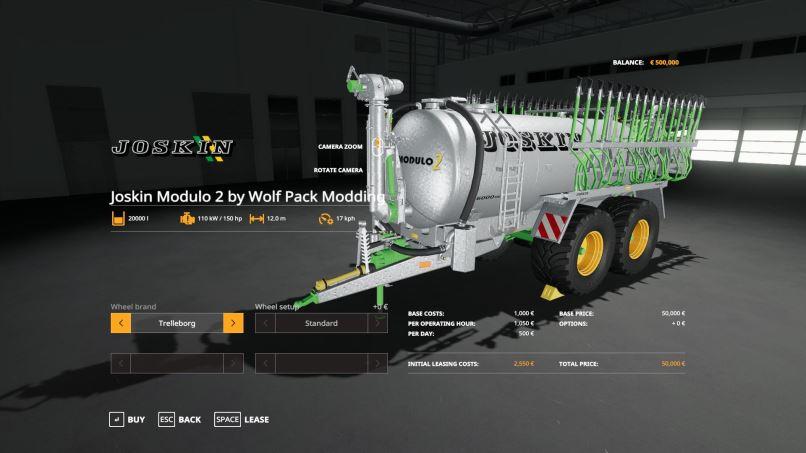 Мод Joskin Modulo 2 by Wolf Pack Modding v 1.0 для Farming Simulator 2017