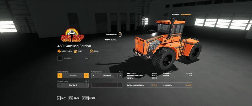 Мод Big Bud 450 Gamling Edition v 1.0 для Farming Simulator 2019