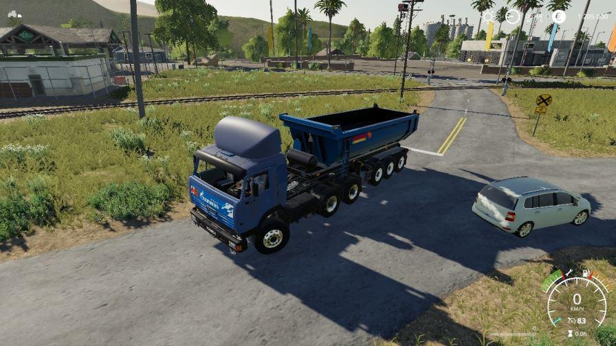 Мод Грузовик КамАЗ-54115 v 2.0 для Farming Simulator 2019