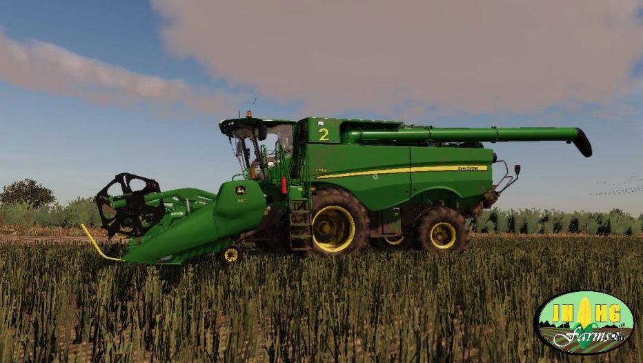 Мод John Deere S700 USA / Aussie v 4.0 для Farming Simulator 2019