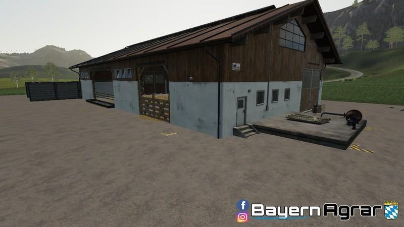 Мод Kuhstall ohne Weide v 2.0 для Farming Simulator 2019