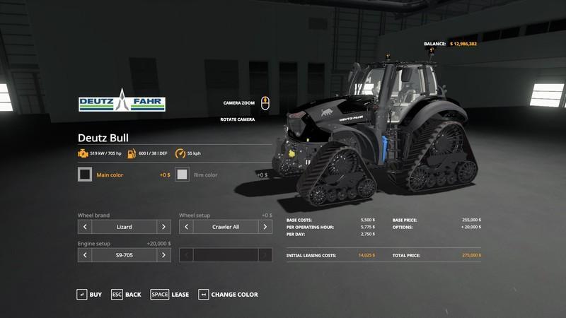Мод Deutz Bull v 1.2.5 для Farming Simulator 2019