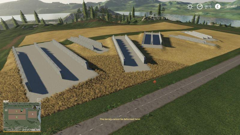 Мод Bunker Silos 360 v 1.0 для Farming Simulator 2019