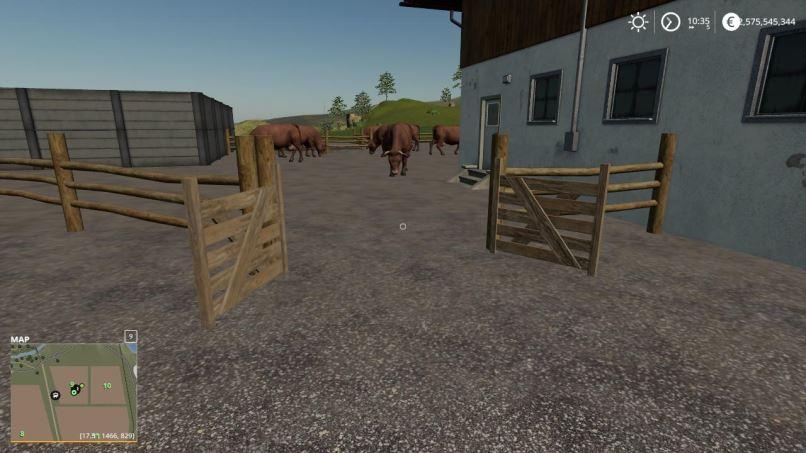 Мод Коровник - Placeable small cow yard v 1.0 для Farming Simulator 2019