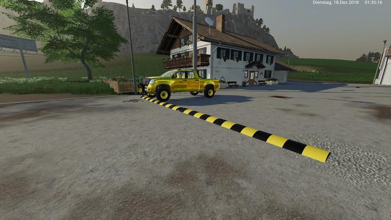 Мод Лежачий полицейски v 2.5 для Farming Simulator 2019