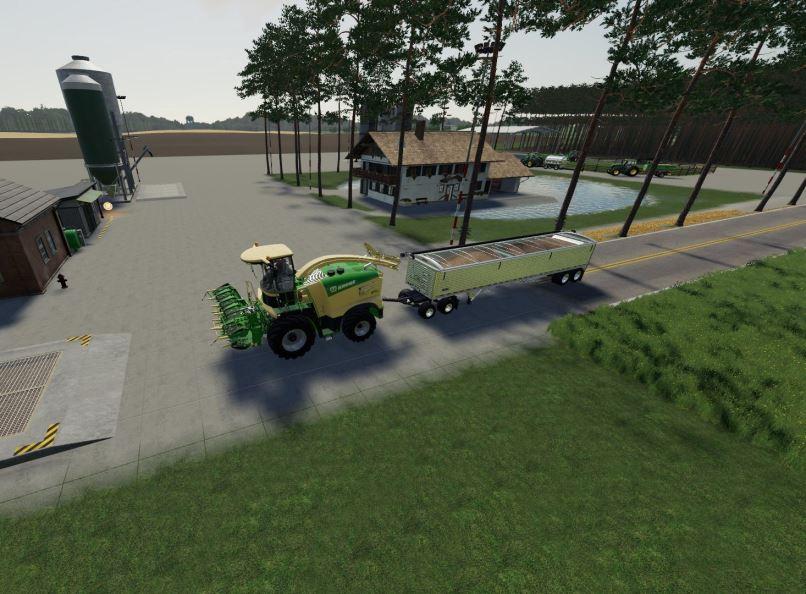Мод Krone X-Collect 900-3 Poplar v 1.0.1 для Farming Simulator 2019