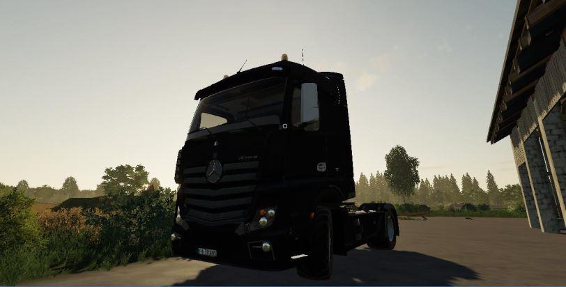 Мод Mercedes Actros MP4 Black v 1.0 для Farming Simulator 2019