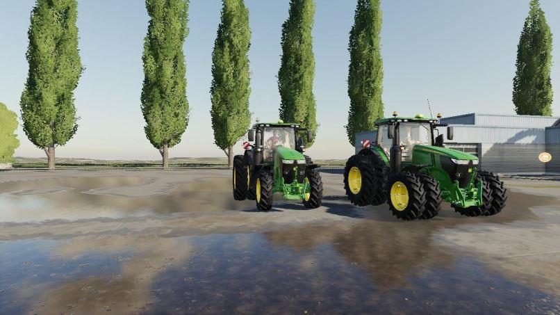 Мод US John Deere tractor pack v 1.0 для Farming Simulator 2019