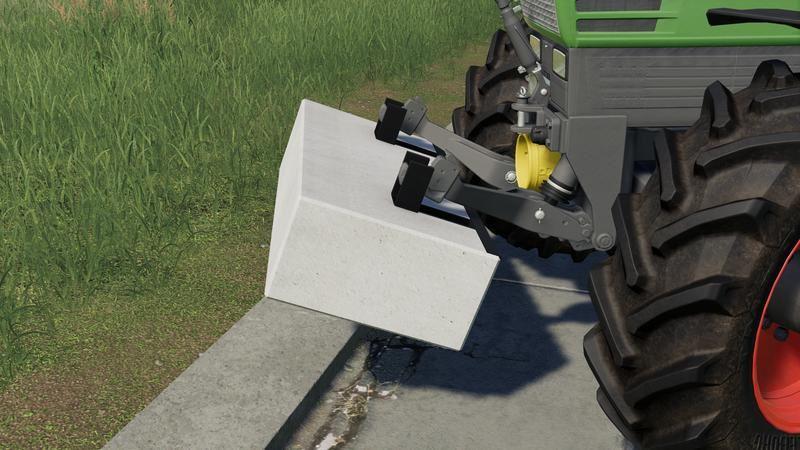 Мод Concrete Weight v 1.0 для Farming Simulator 2019