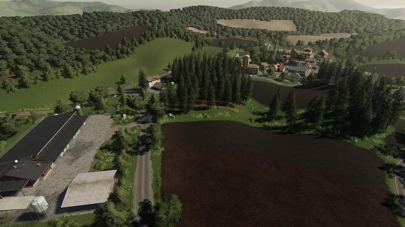 Мод Карта Upper Glantal in the South Palatinate v 1.0 для Farming Simulator 2019