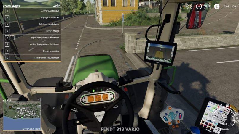 Мод Fendt 300 Vario v 1.0 для Farming Simulator 2019