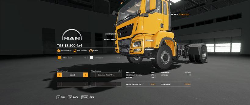 Мод MAN TGS By Gamling v 1.0 для Farming Simulator 2019