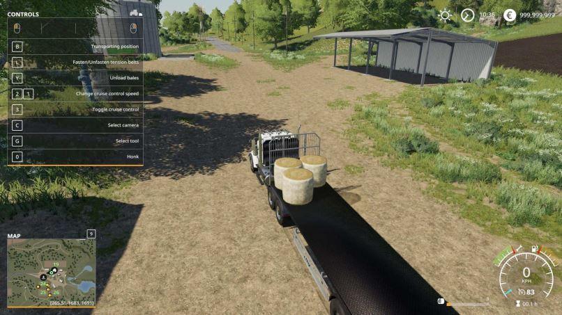 Мод Fliegl Flatbed Roundbale and Squarebale Autoloader v 1.0.0.1 для Farming Simulator 2019