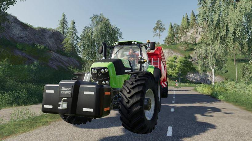 Мод Deutz Fahr Series 7 v 1.0 для Farming Simulator 2019