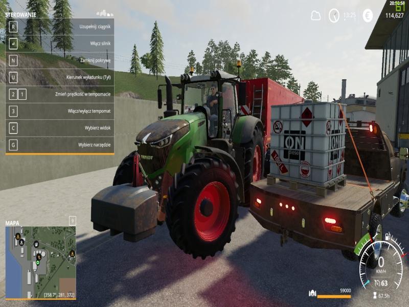Мод 1000L IBC Palet Tank v 1.0 для Farming Simulator 2019