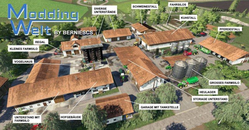 Мод MW Platzierbarer Hof v 1.3.1 Final для Farming Simulator 2019