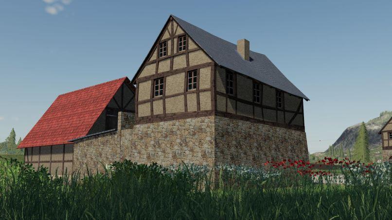 Мод Timberframe House With Shed v 1.0.0.4 для Farming Simulator 2019