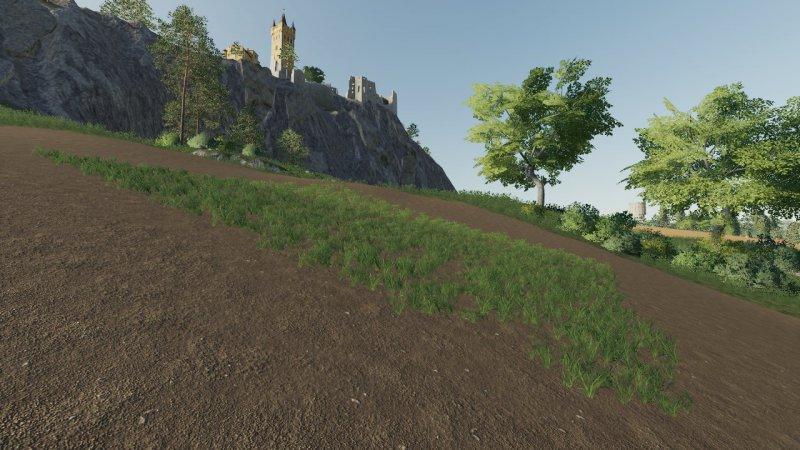 Мод Grass Patch Set v 2.2 для Farming Simulator 2019
