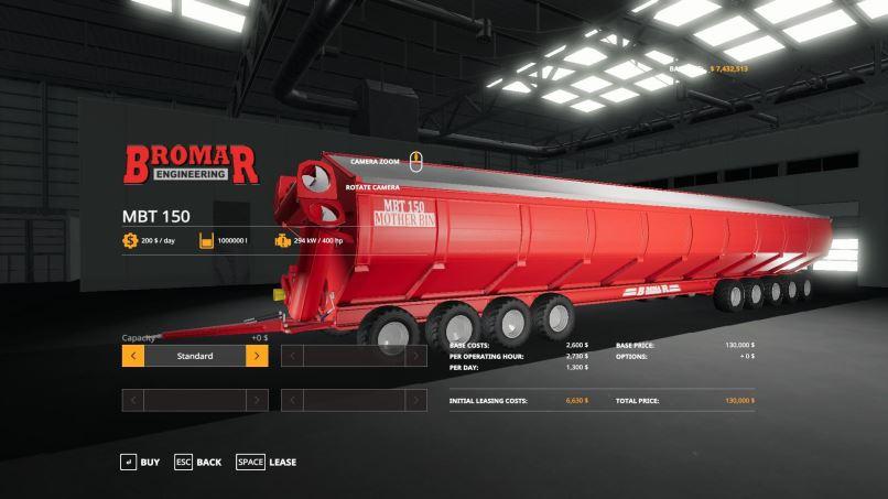 Мод Bromar MotherBin v 1.2 для Farming Simulator 2019