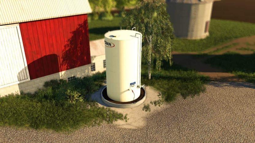 Мод Meridian FuelTank and BulkBins v 1.0 для Farming Simulator 2019