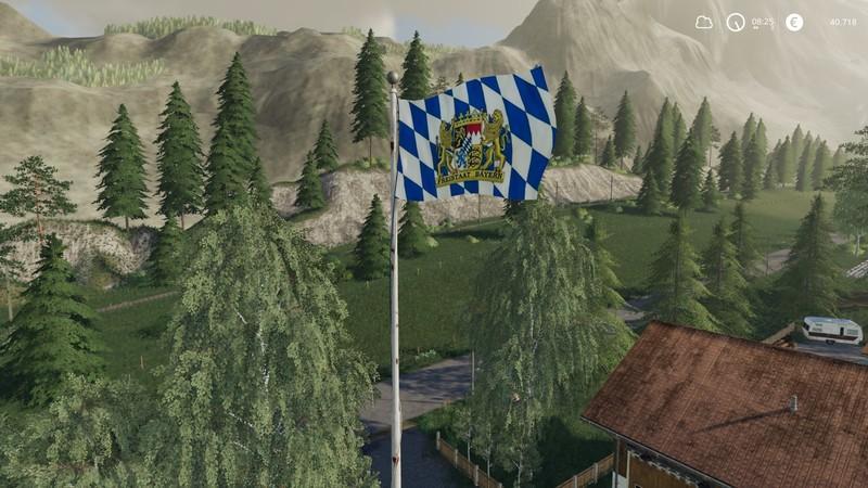 Мод Splittable Bavaria flag v 1.0 для Farming Simulator 2019