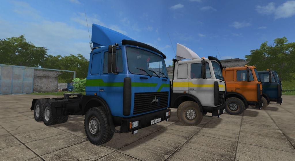 Мод Маз-6422 и Маз-5516 (Gear Box) v 2.5 для Farming Simulator 2017
