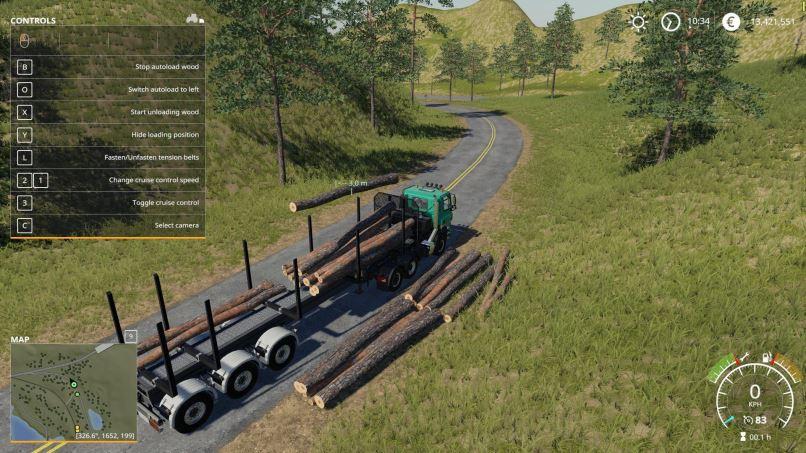 Мод Fliegl Timber Runner With Autoload Wood v 1.1 для Farming Simulator 2019
