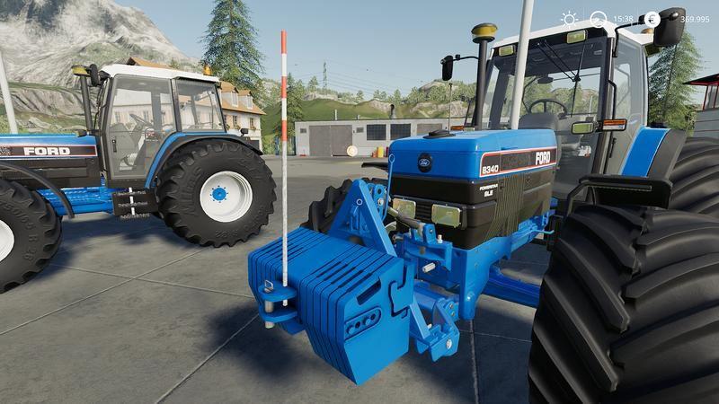 Мод Frontgewicht der Marke Ford v 1.0 для Farming Simulator 2019