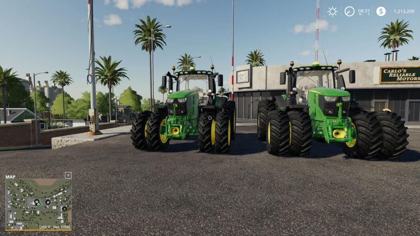 Мод Пак John Deere USA v 1.0.0.2 для Farming Simulator 2019